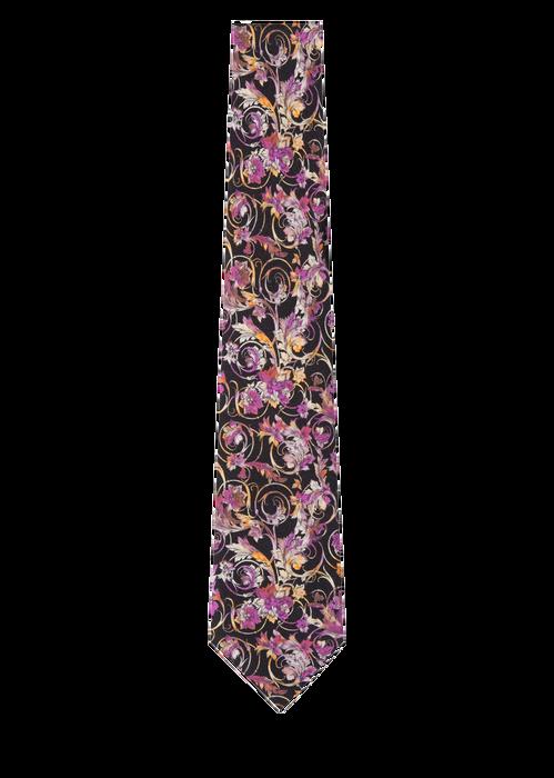 Baroque Print Silk Tie - Versace Ties & Silk Accessories