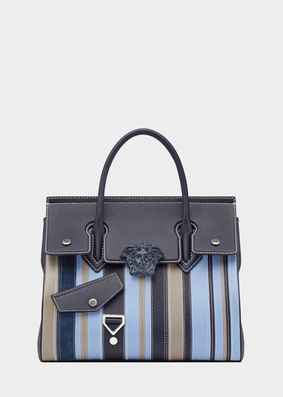 Striped Palazzo Empire-Tasche - Versace Schultertaschen