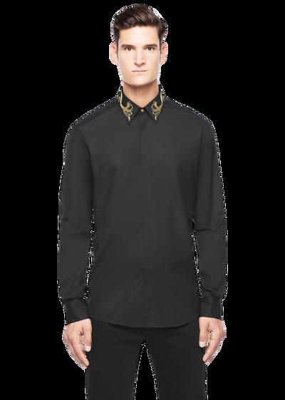 Embroidered Collar Button Down Shirts - Versace Abbigliamento
