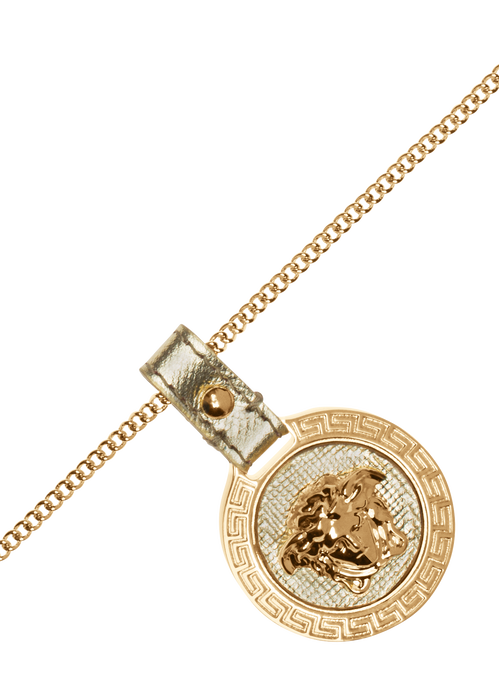Raised Medusa Head pendant necklace D91O - Versace Accessori