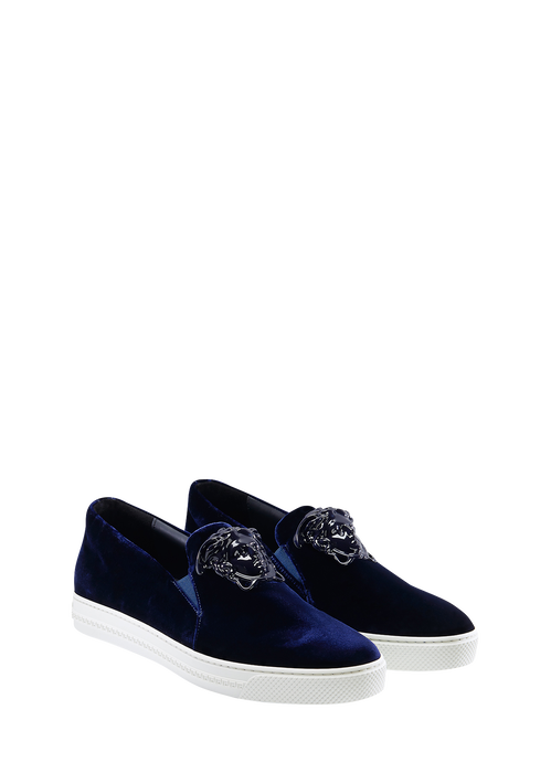 Velvet Slide On Palazzo Sneaker Sneakers - Versace