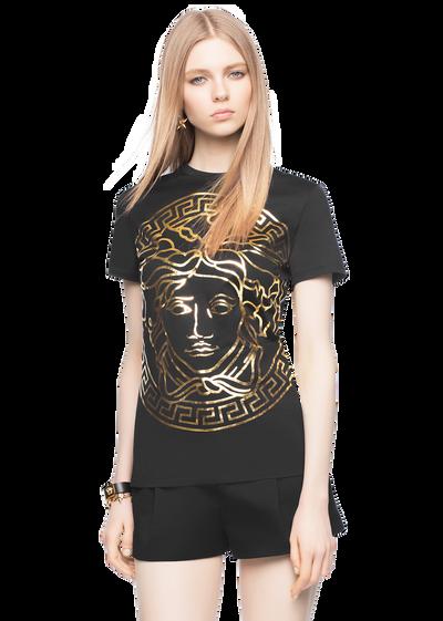Versace women 39 s t shirts sweatshirts official website for Versace t shirts women