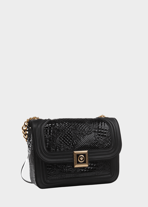 New Icon Patent Handbag - Versace Shoulder Bags