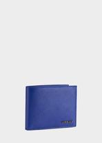 Saffiano Leather Billfold Wallet DBLE - Versace Accessori