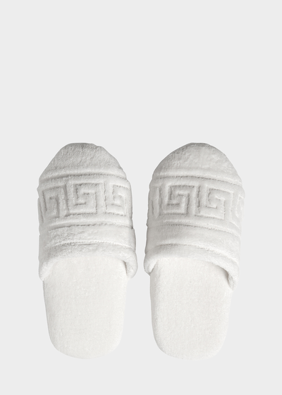Greca Key Slippers Slippers - Versace Home