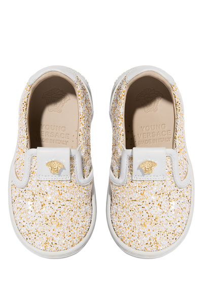 Sparkling slip-on sneakers Baby Accessories  6 - 36 months - Young Versace