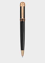 Black Astrea Ball Point Pen PNUL - Versace Preziosi