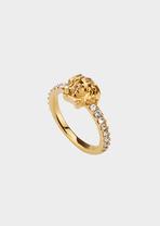Medusa Swarovski Band Ring Rings - Versace