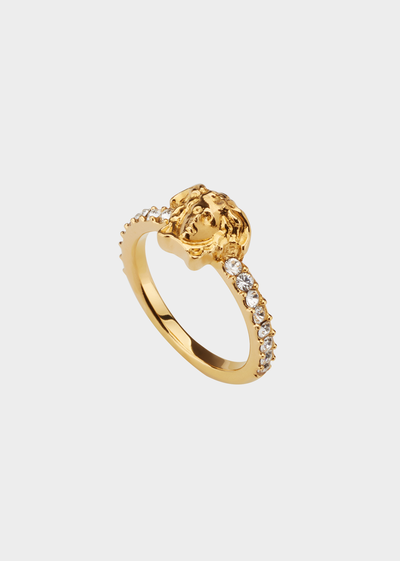 Medusa Swarovski Band Ring Rings - Versace