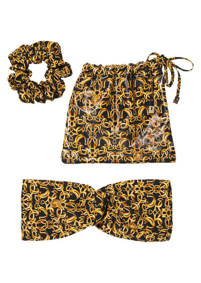 Baroque Print Hair Set Foulards & Scarves - Versace