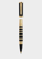 Olympia Gold and Black Roller Pen PNUL - Versace Preziosi