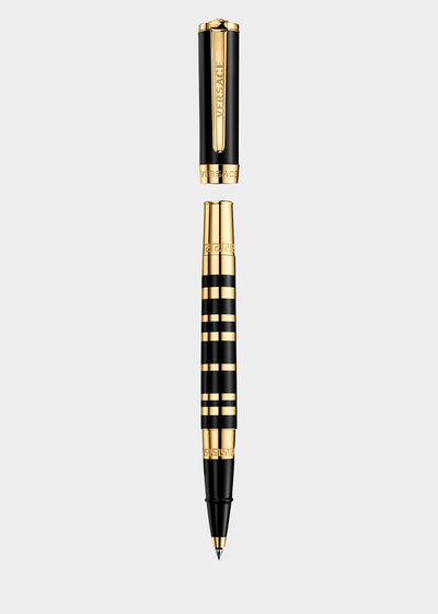 Olympia Gold and Black Roller Pen Pens - Versace Preziosi