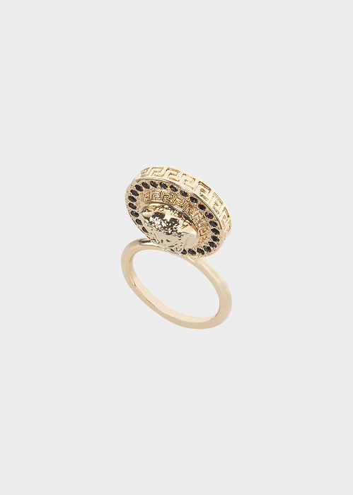 Upright Medusa Ring Rings - Versace Accessori
