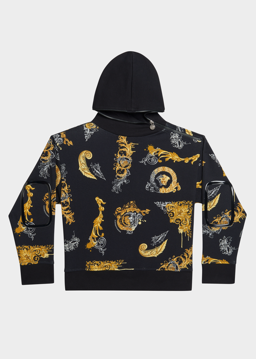 Baroque Elements Patch Hoodie - Young Versace Clothing