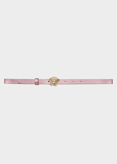 Patent Leather Belt with Medusa Buc Junior Accessories  4 - 14 years - Young Versace