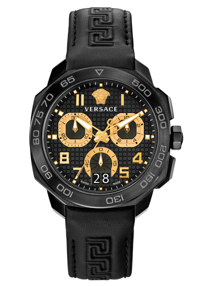 Dylos Chrono black and steel Watches - Versace
