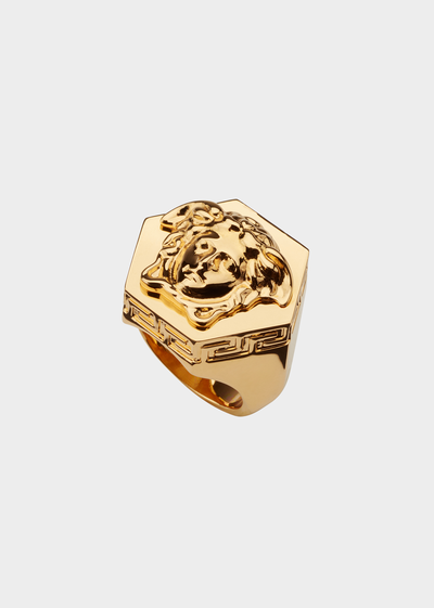 Hexagonal Medusa Gold Ring - Versace Rings
