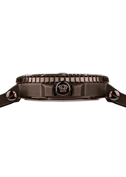 V-Race Diver Brown Camo Dial Watch PNUL - Versace