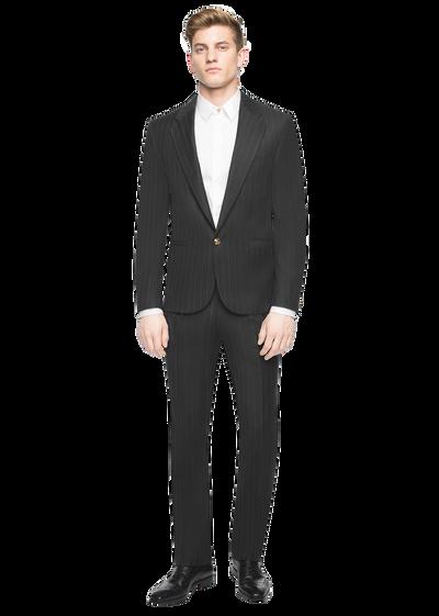 Medusa button pinstripe wool suit Suits - Versace Abbigliamento