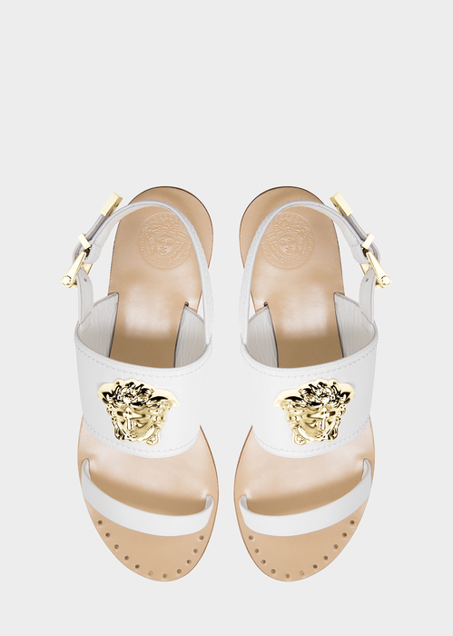 Vitello Palazzo Flat Sandal Sandals - Versace Accessori