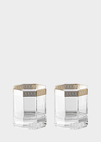 Medusa d'Or Whiskey Set - Versace Glass & Crystal