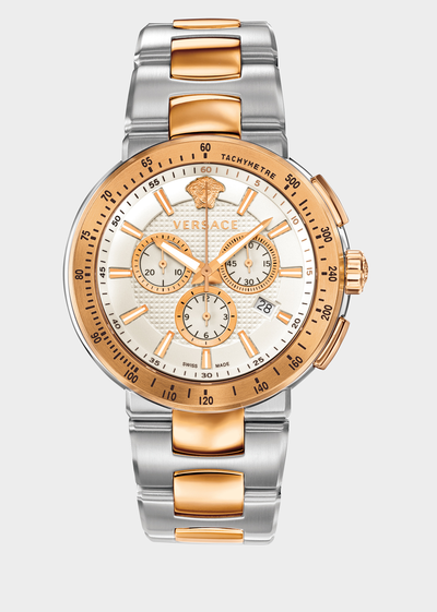 Mystique sport steel and gold Watches - Versace Preziosi