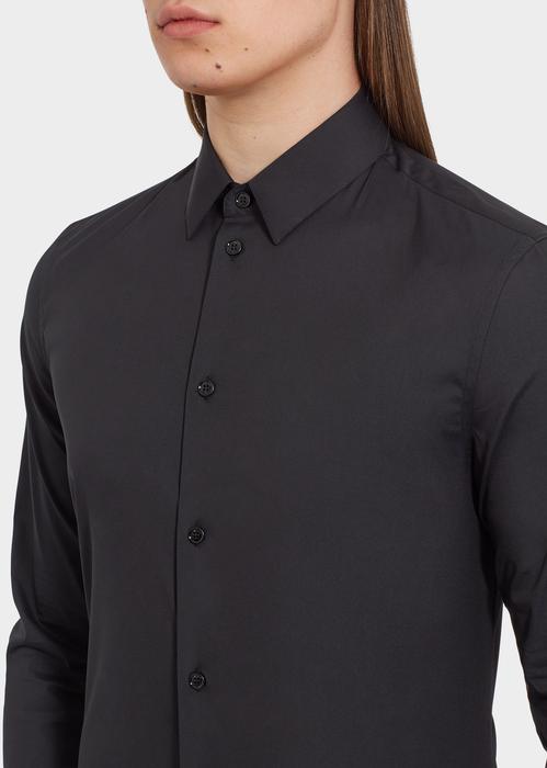 Stretch Cotton Collared Shirt - Versace Shirts