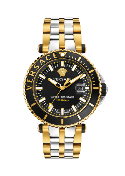 V-Race Diver Two-Tone Watch Watches - Versace