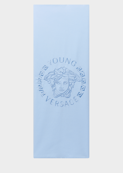 Embroidered Medusa Head Towel - Young Versace Accessories