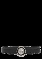 Etched Lion Head Round Buckle Belt - Versus Versace Belts