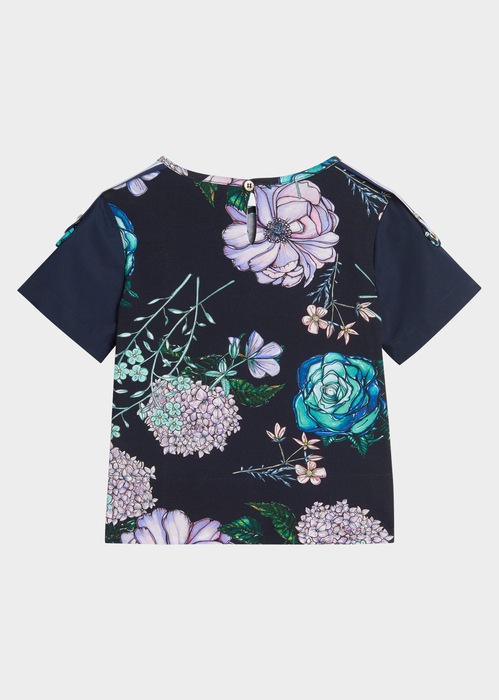Floral Burst Contrast T-Shirt - Young Versace Clothing