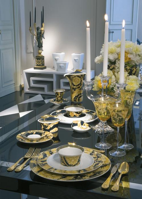 Vanity Tea Cup & Saucer N1930 Barocco - Versace