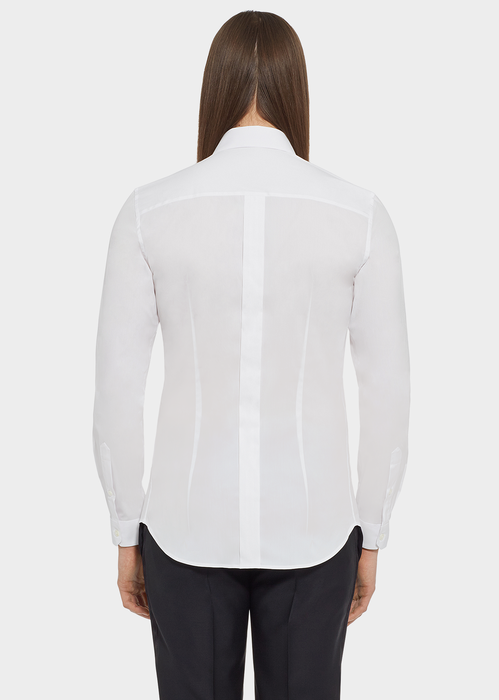Stretch Cotton Collared Shirt - Versace Shirts