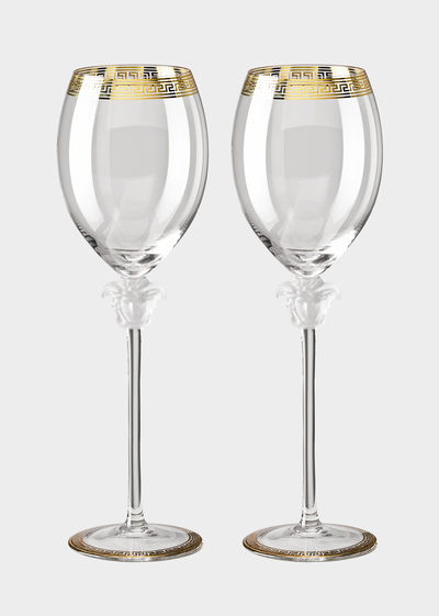 Medusa D'or Red Wine Glass Set - Versace Glass & Crystal