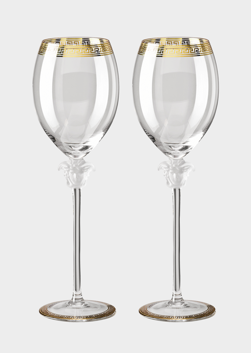 Medusa D'or Red Wine Glass Set N2066 - Versace