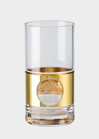 Gold Medusa Madness Longdrink Glass Glass & Crystal - Versace
