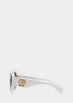White #PopMedusa Sunglasses - Versace Eyewear