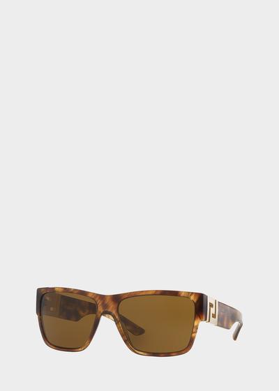 Havana Squared Sunglasses - Versace Eyewear