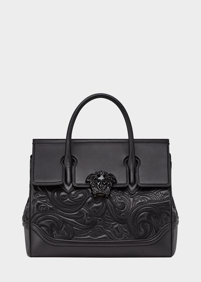 Bestickte Palazzo Empire Tasche - Versace Schultertaschen