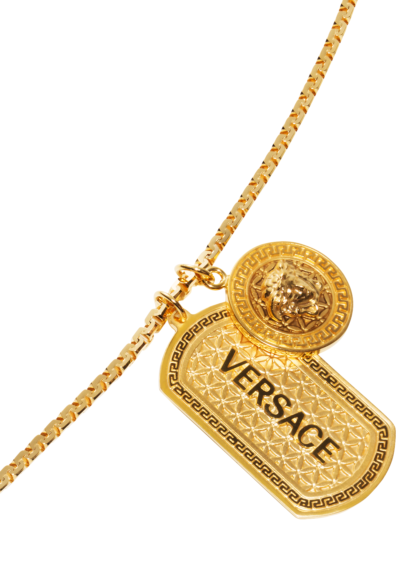 Versace Medusa Necklace With Tag for Men | US Online Store