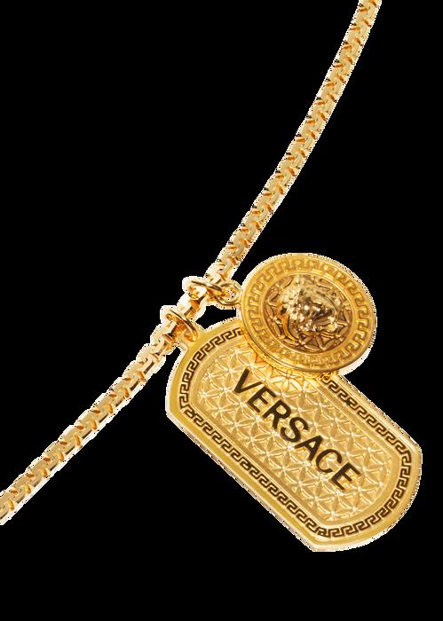 versace medusa necklace with tag for men us online store. Black Bedroom Furniture Sets. Home Design Ideas