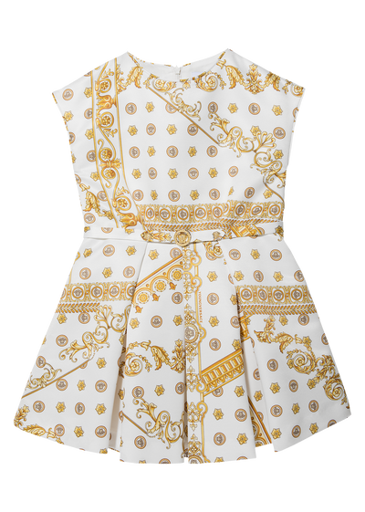 Dress with print and belt Junior Clothing  4 - 14 years - Young Versace