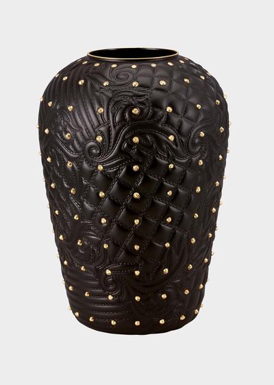 Vanitas Black Studded Vase - Versace Vases