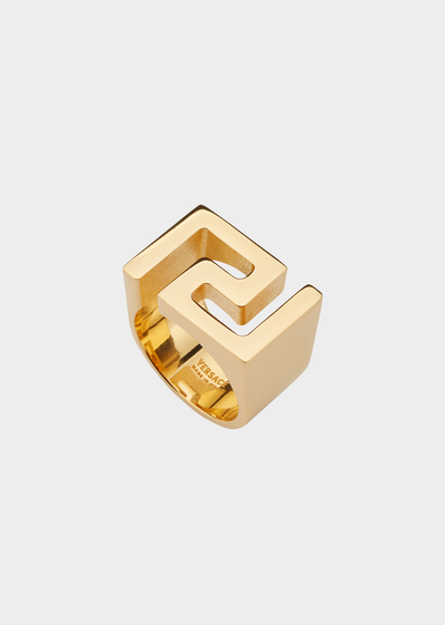 Greek Key Statement Ring Rings - Versace