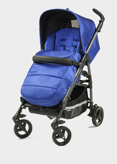 Jacquard Medusa Stroller - Young Versace Strollers and Bassinets