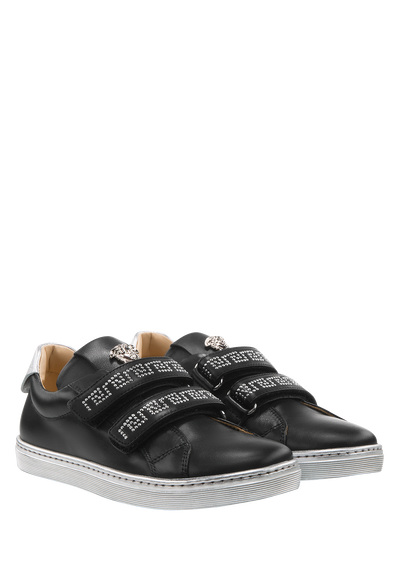 Leather sneakers with studs - Young Versace Accessories