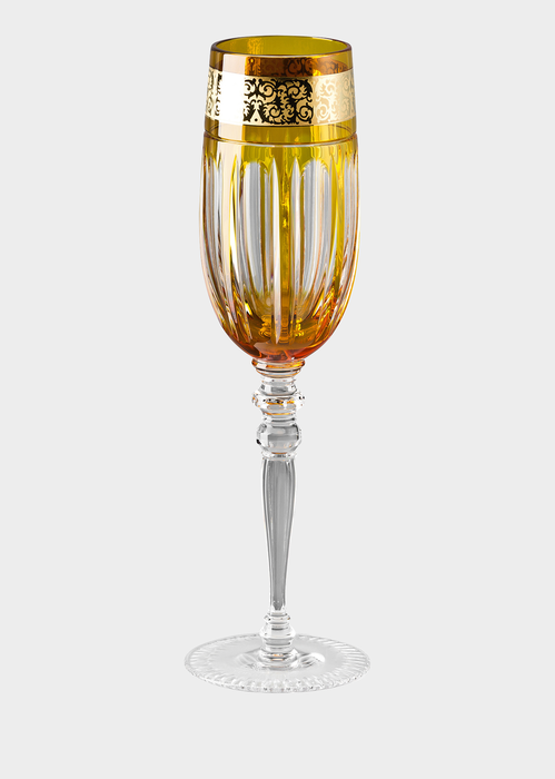 Prestige Gala Amber champagne flute - Versace Glass & Crystal