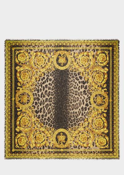 Foulard en soie Baroque Wild - Versace Foulards & écharpes
