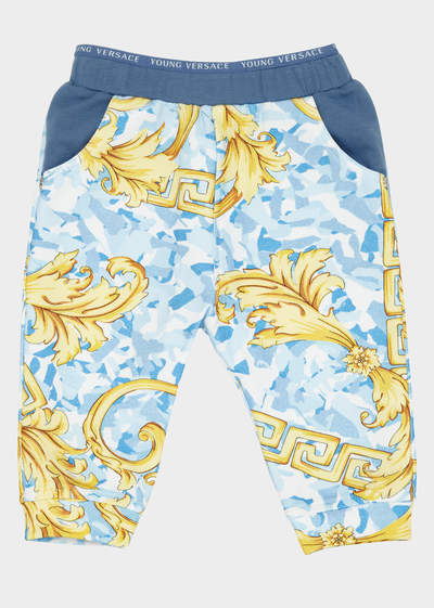 Young Baroque Stretch Sweatpants Baby Clothing  6 - 36 months - Young Versace