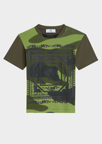 Embossed Camoupard T-Shirt - Young Versace Clothing